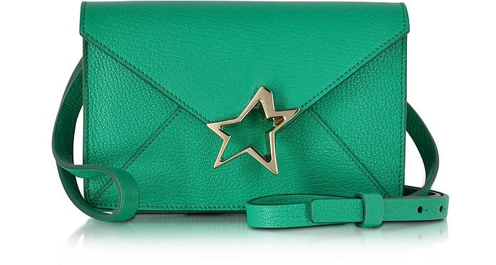 Tiffanini Mint Green Goatskin Leather Crossbody Bag - Corto Moltedo