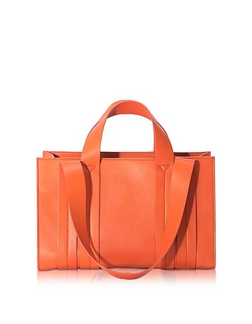Corto Moltedo - Costanza Orange Persimmon Medium Tote