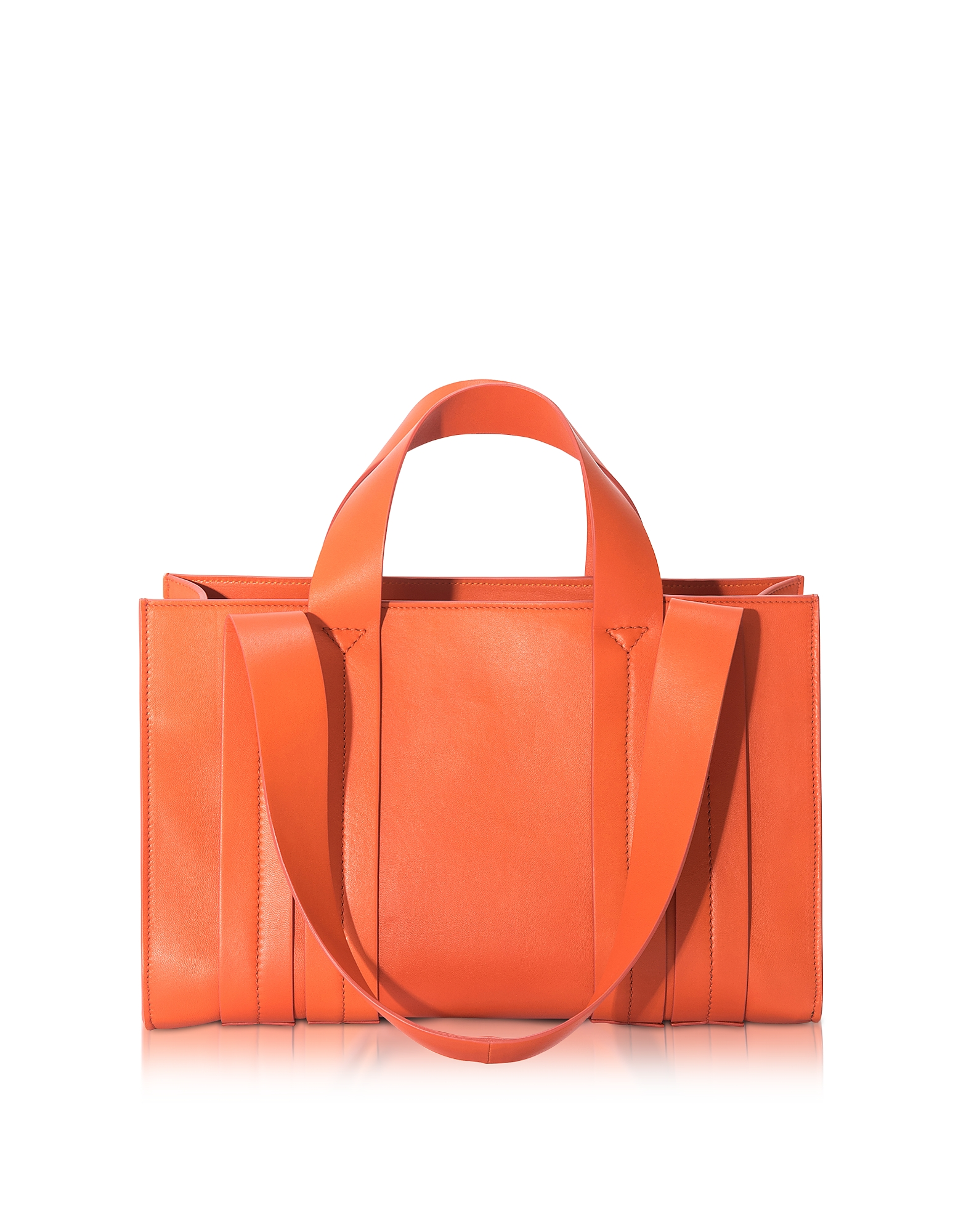 Corto Moltedo Handbags, Costanza Orange Persimmon Medium Tote