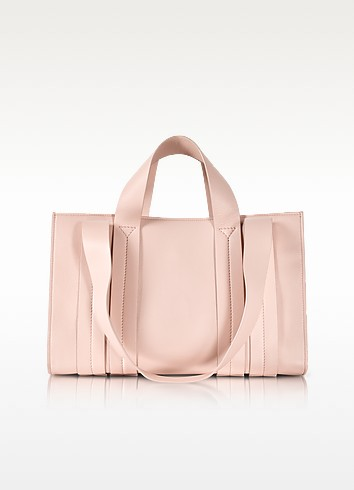 Costanza Beach Club Medium Natural Nappa Leather Tote - Corto Moltedo