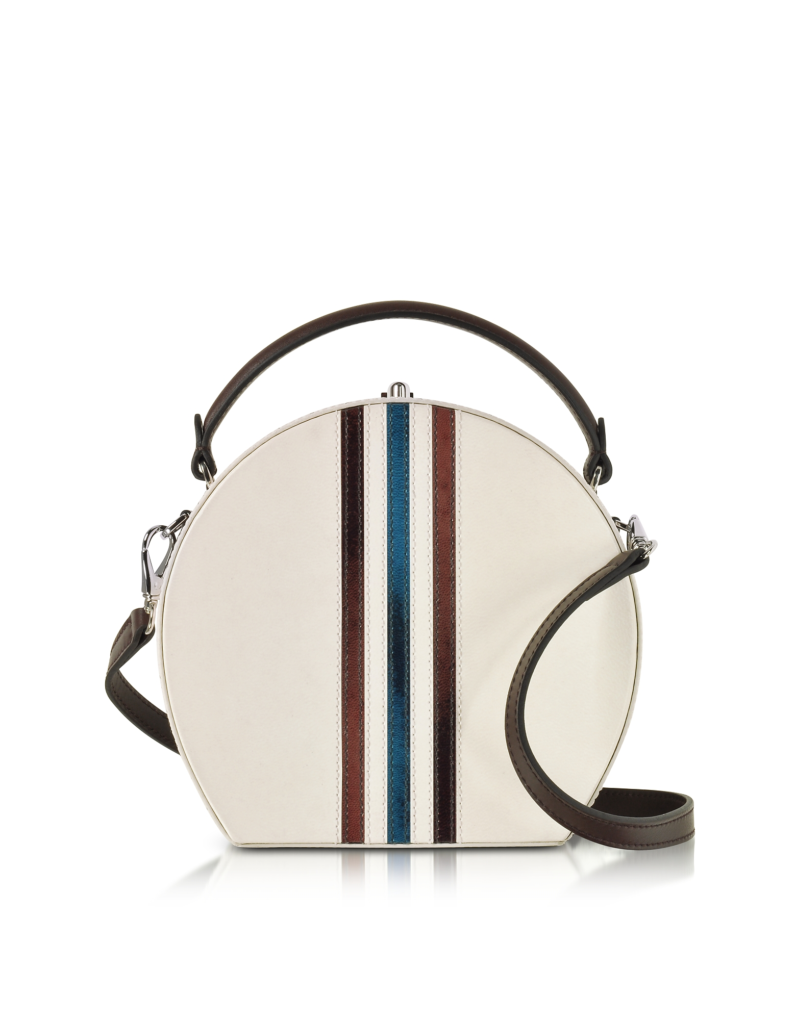 Bertoni Pergamena Leather Bertoncina Satchel Bag