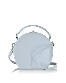 Pale Blue Leather Bertoncina Satchel Bag - Bertoni 1949