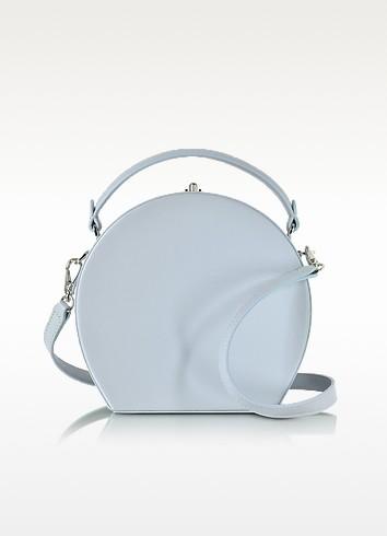 Pale Blue Leather Bertoncina Satchel Bag - Bertoni 1949