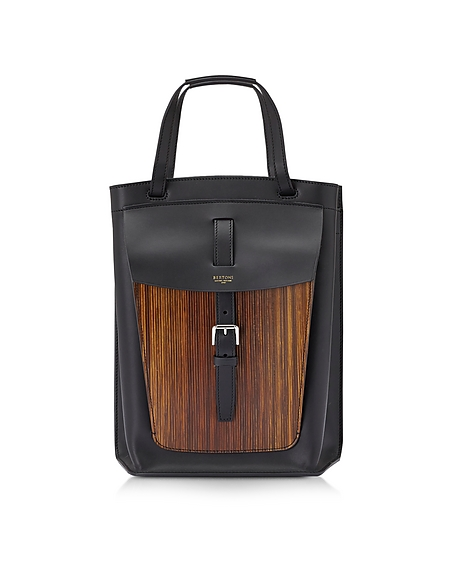 Foto Bertoni 1949 Arizona Borsa in Pelle Wood Borse donna