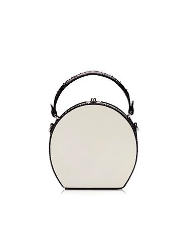 Bertoni 1949 - Mini Bertoncina Black and White Bowler Bag