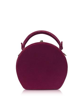 Bertoni 1949 - Burgundy Velvet Bertoncina Satchel Bag