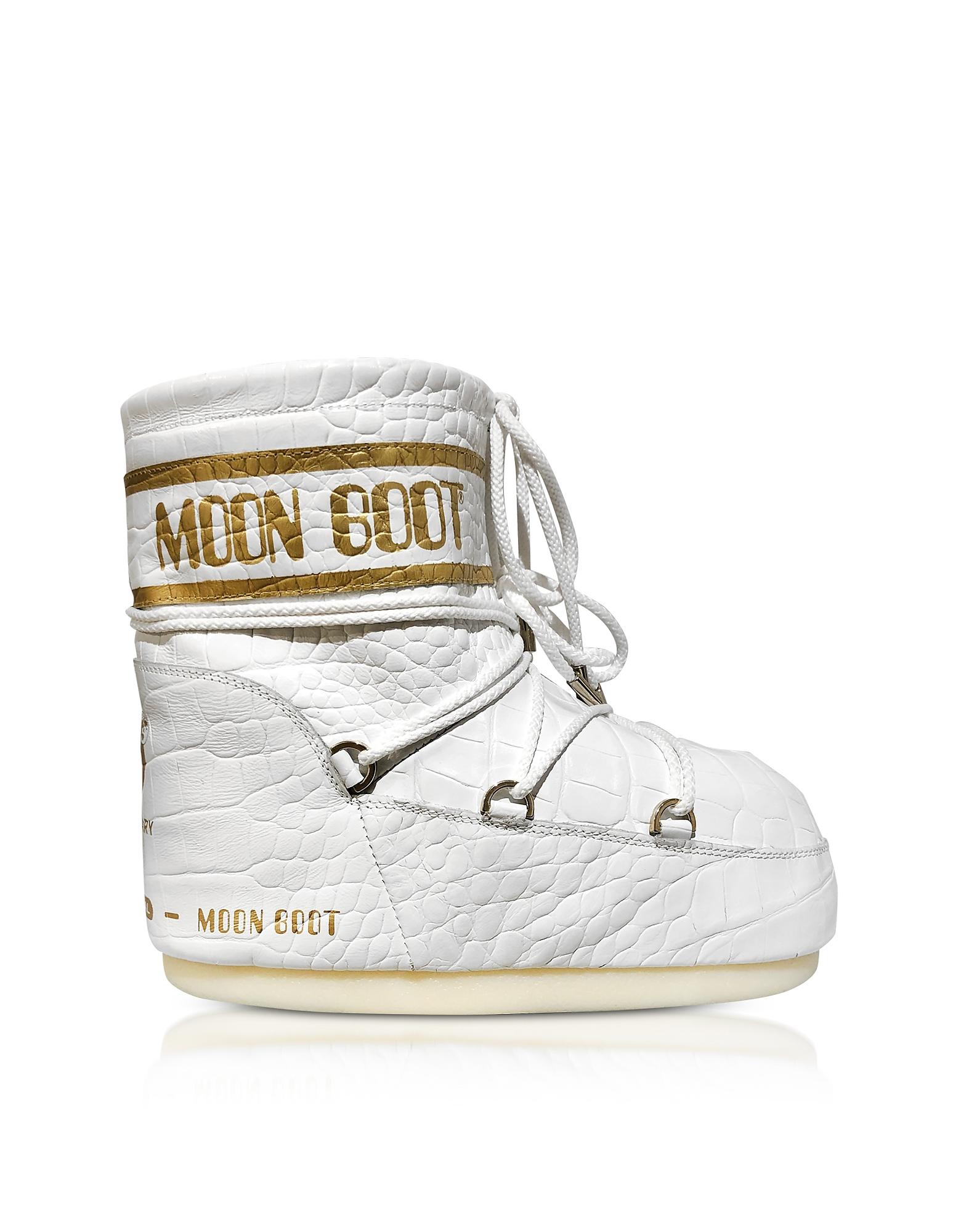 Classic 50 Crocodile Blanc Chaussures
