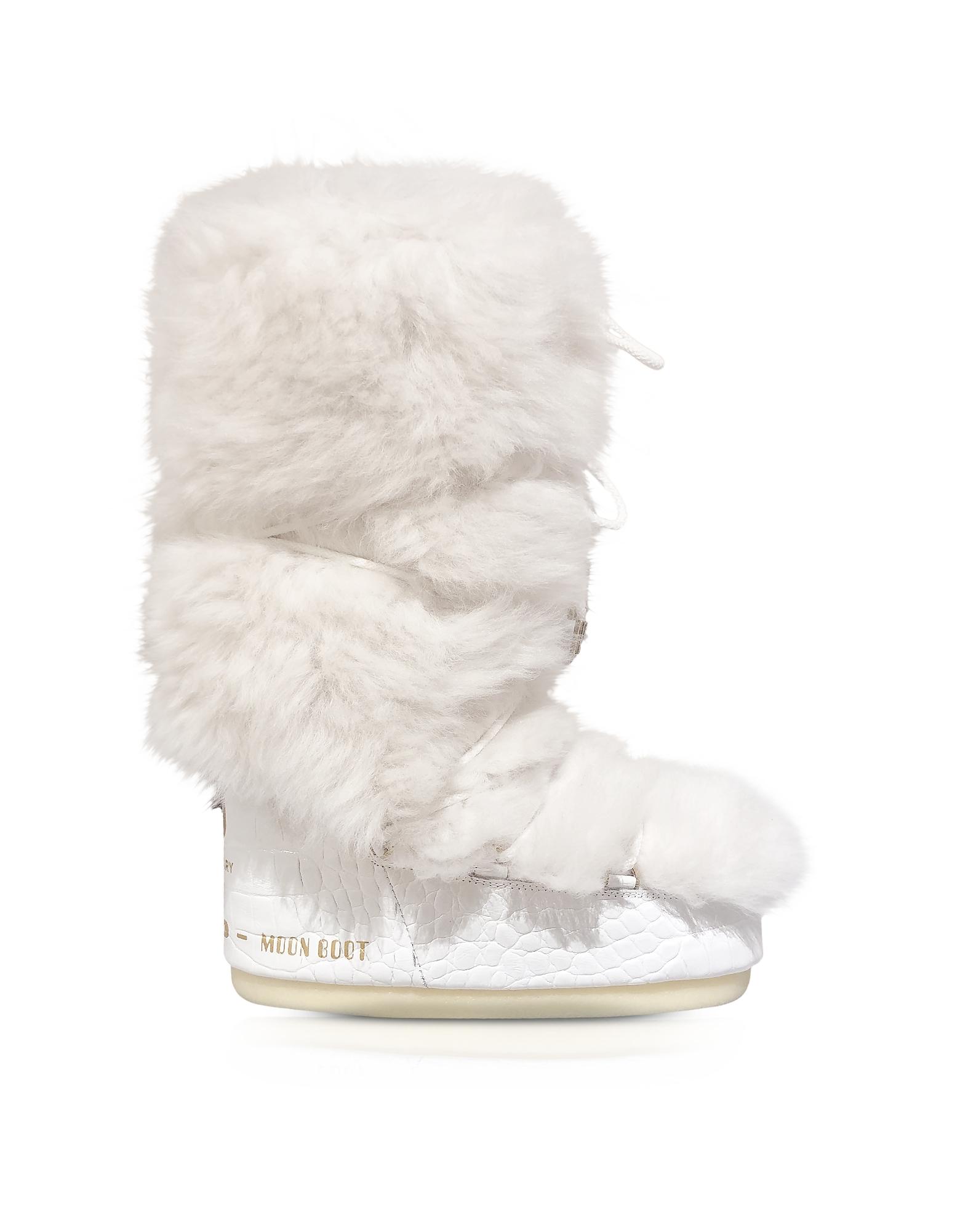 Classique 50 Blanc Shearling Bottes