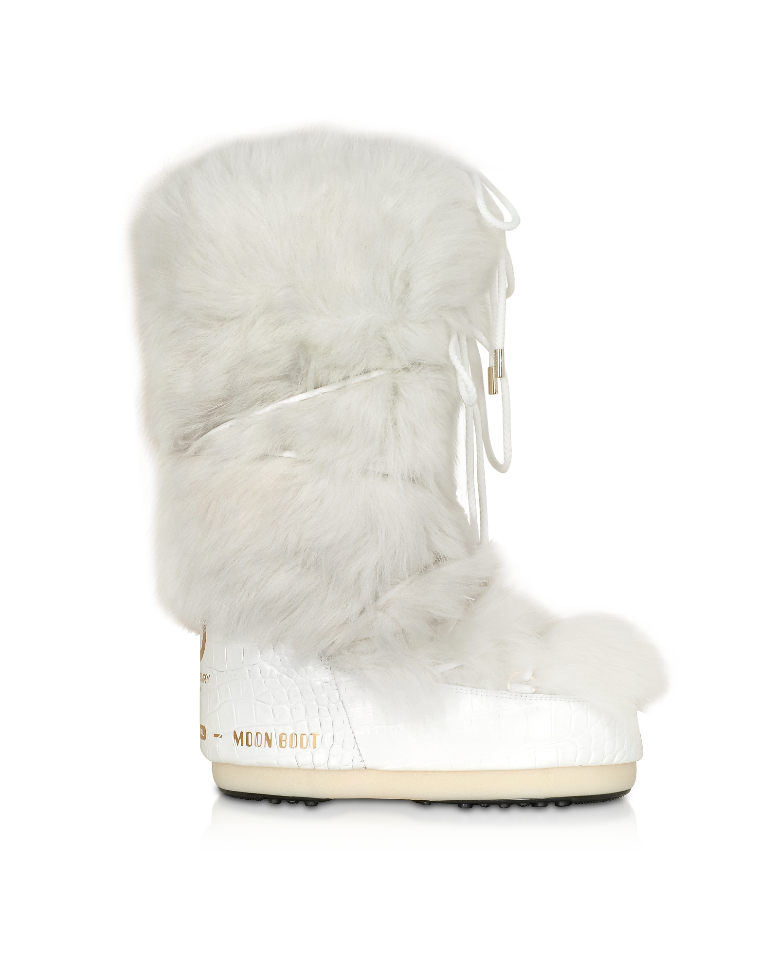 Moon Boot Designer Shoes, Classic 50 White Shearling Boots