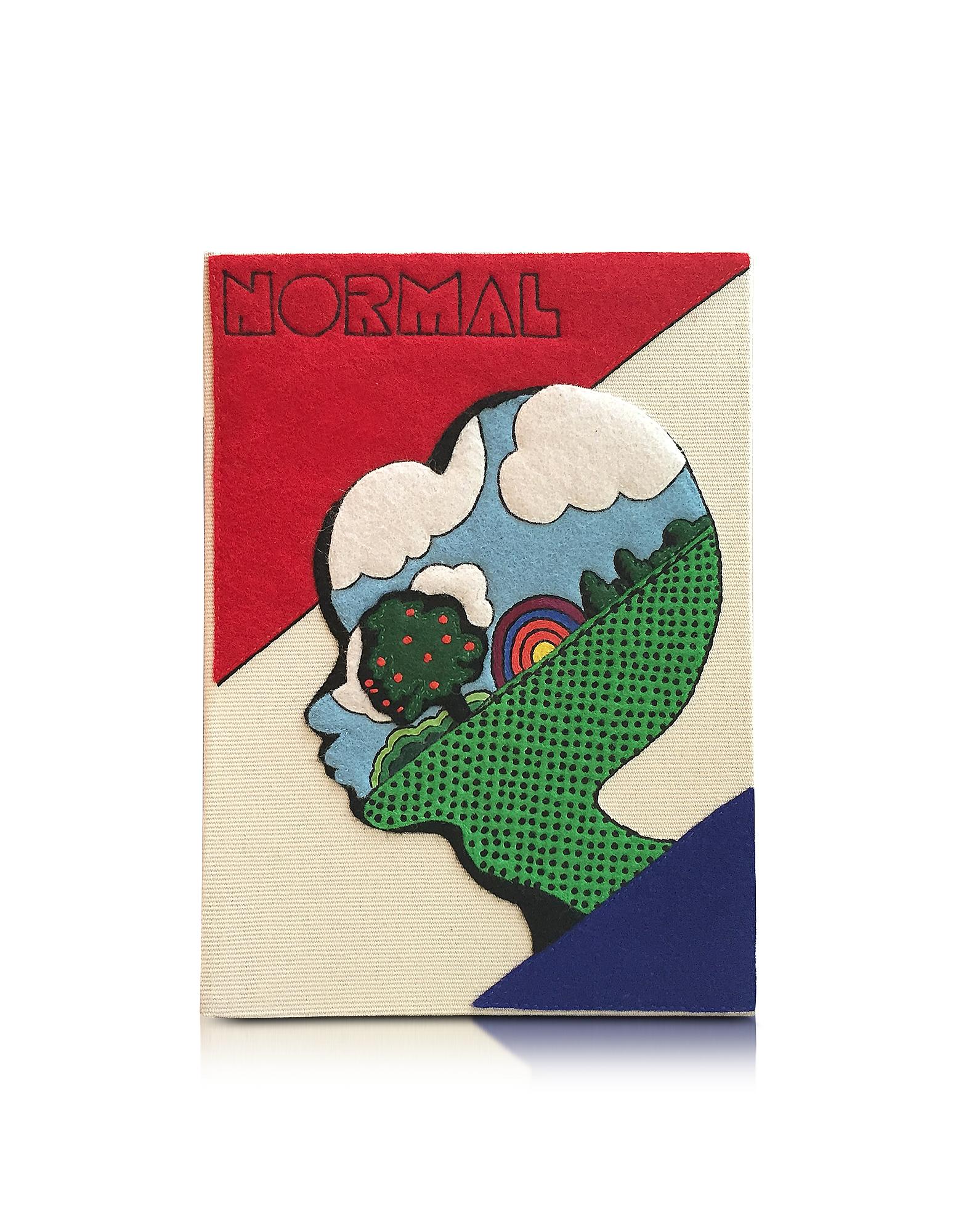 Фото Normal Cream - Клатч Книжка с Покрытием из Ткани. Купить с доставкой
