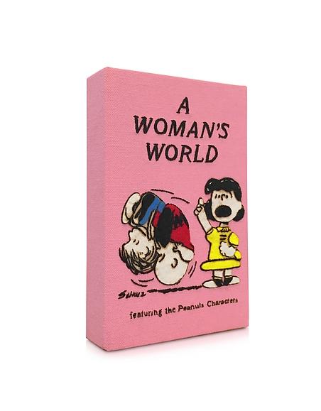 Foto Olympia Le-Tan A Woman's World  Clutch Libro in Cotone e Seta Ricamato a Mano Borse donna
