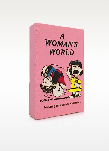A Woman's World Cotton Book Clutch - Olympia Le-Tan