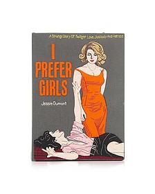 I Prefer Girls Book Clutch - Olympia Le-Tan