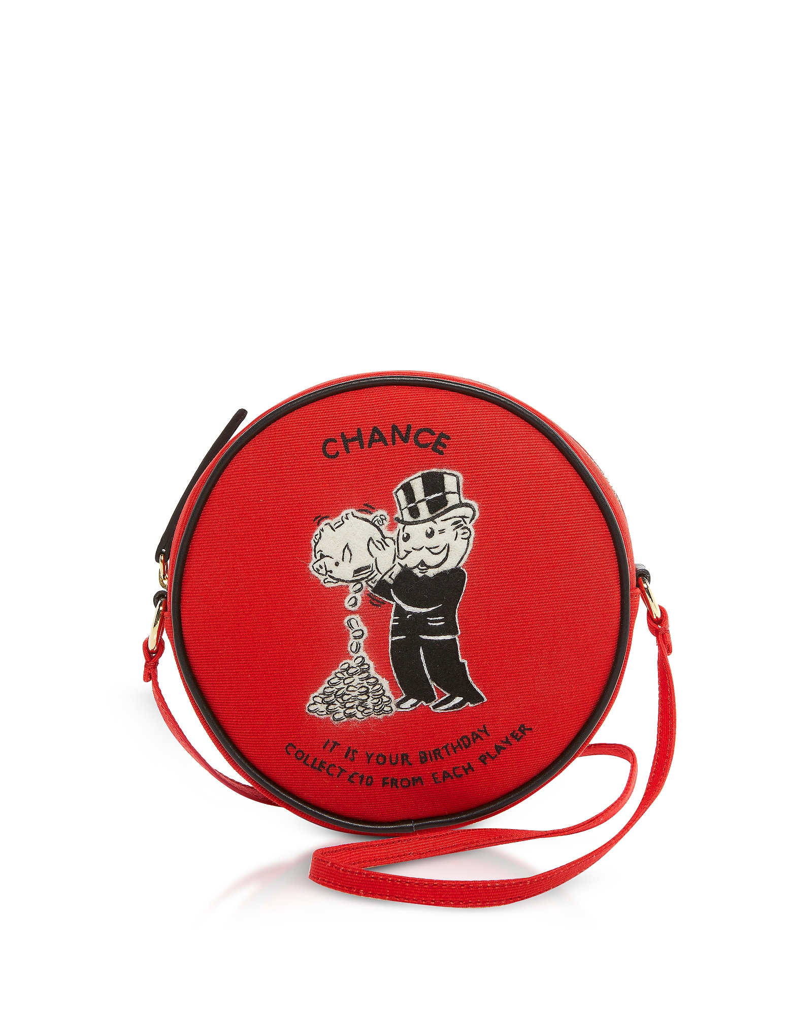 Crossbody Chance Dizzie Bag in Cotone e Feltro di Lana Ricamata