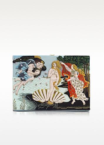 Botticelli Blue Lagoon Cotton Book Clutch - Olympia Le-Tan