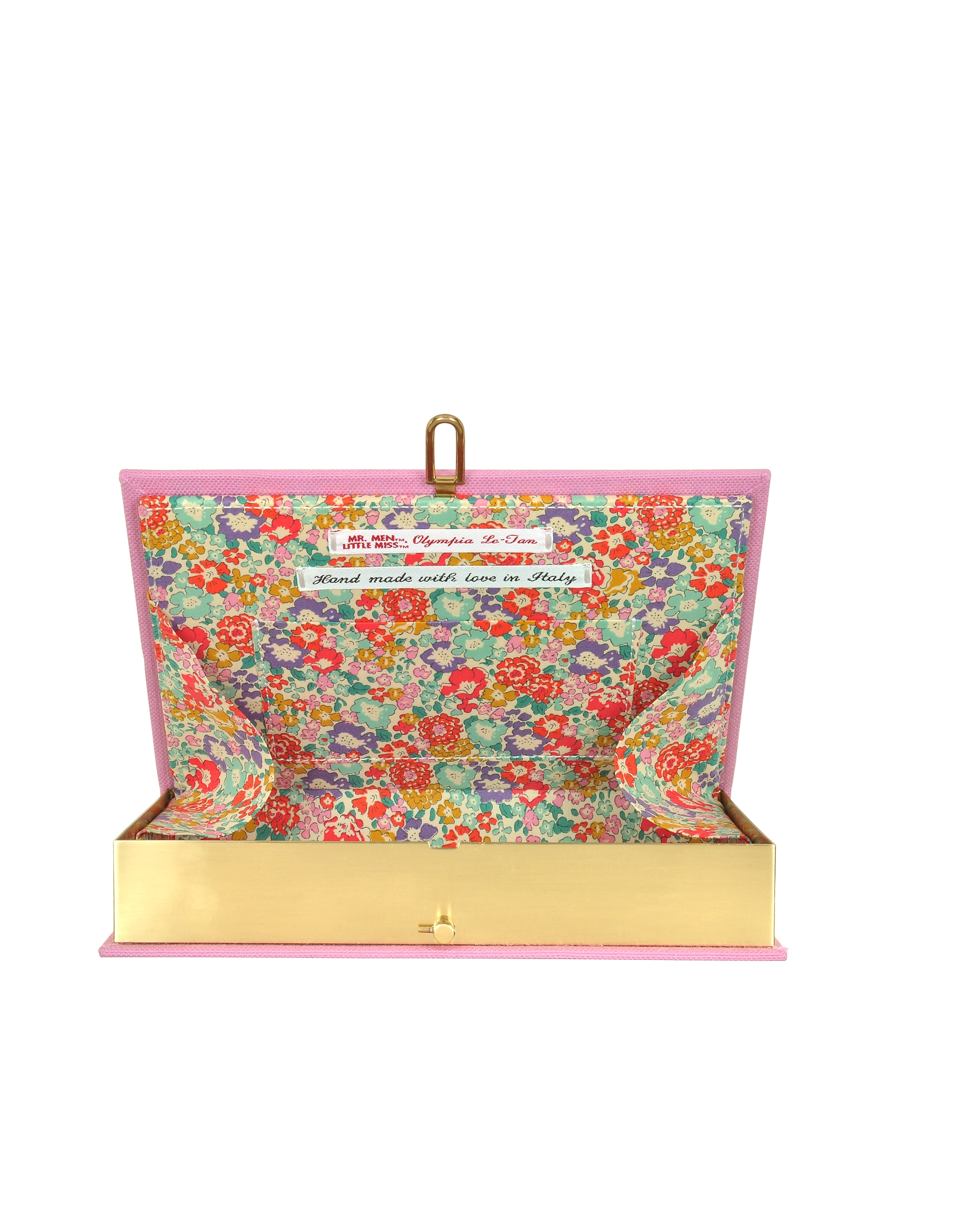 Little Miss Sewing Pink Cotton Book Clutch от Forzieri.com INT