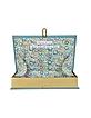 Bronzino Blue Lagoon Cotton Book Clutch - Olympia Le-Tan