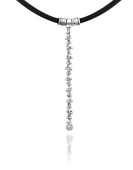 Orlando Orlandini Flirt - Collier pendentif en gomme, or blanc 750/1000 et diamant 0.02Ct
