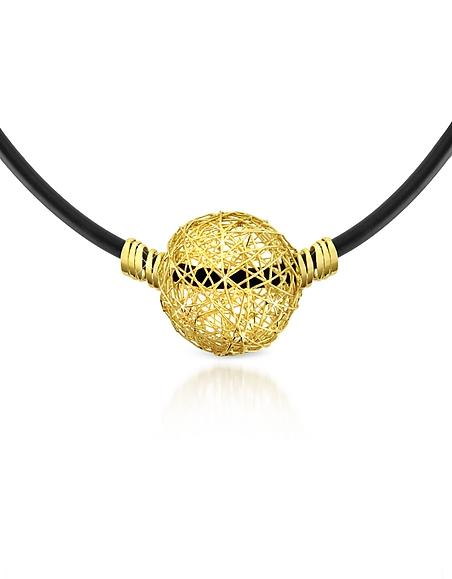 Orlando Orlandini Arianna - Collier en gomme avec pendentif en or jaune 750/1000