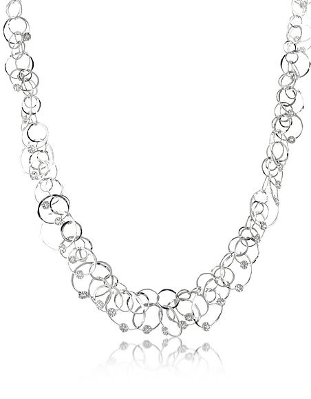 Orlando Orlandini Scintille Anniversary - Collier en or 750 blanc et diamant