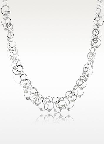 Scintille Anniversary - Diamond 18K White Gold Chain Necklace - Orlando Orlandini