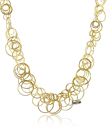 Orlando Orlandini - Scintille - Diamond 18K Yellow Gold Chain Necklace