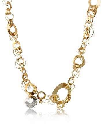 Fashion - Diamond 18K Rose Gold Chain Necklace Better Quality than Blue Nile Diamonds