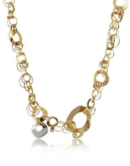 Image of Orlando Orlandini Fashion - Collana in Oro Rosa e Bianco 18 ck con Diamanti