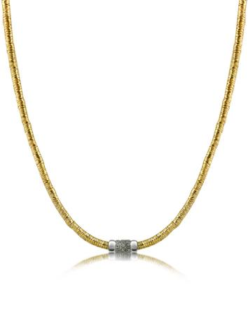 Capriccio - Diamond 18K Gold Chain Snake Necklace