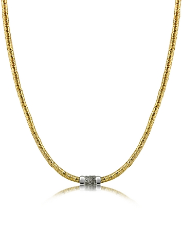 Capriccio - Diamond 18K Gold Chain Snake Necklace