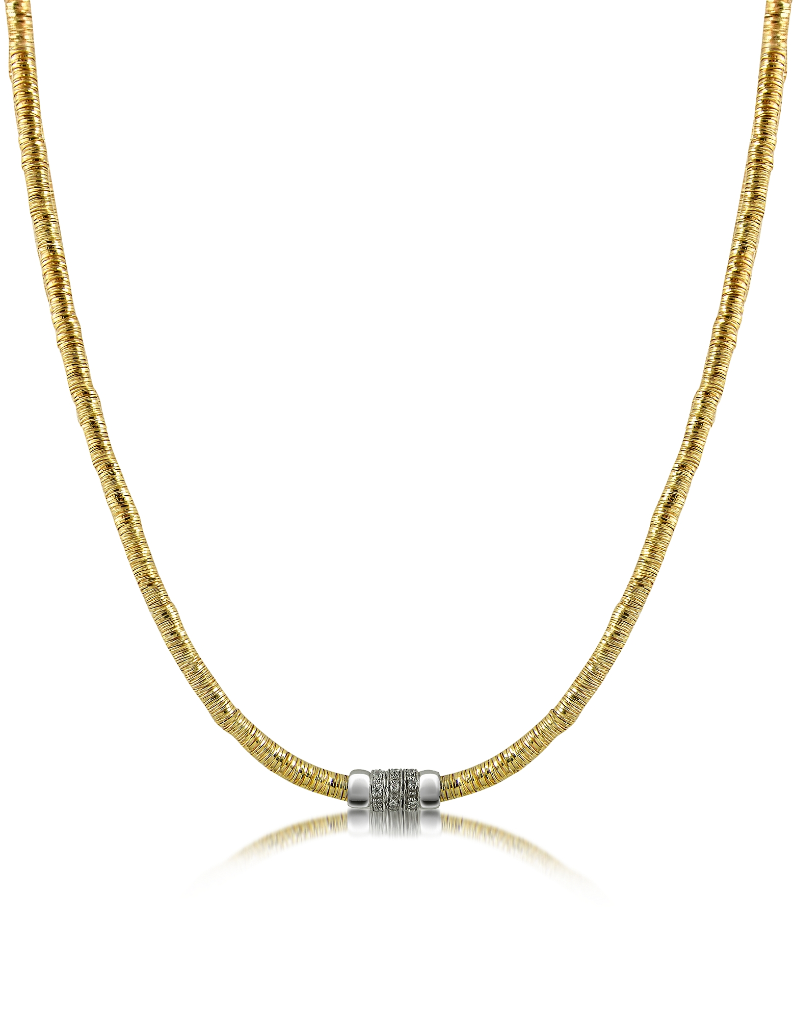 Orlando Orlandini Necklaces, Capriccio - Diamond 18K Gold Chain Snake Necklace