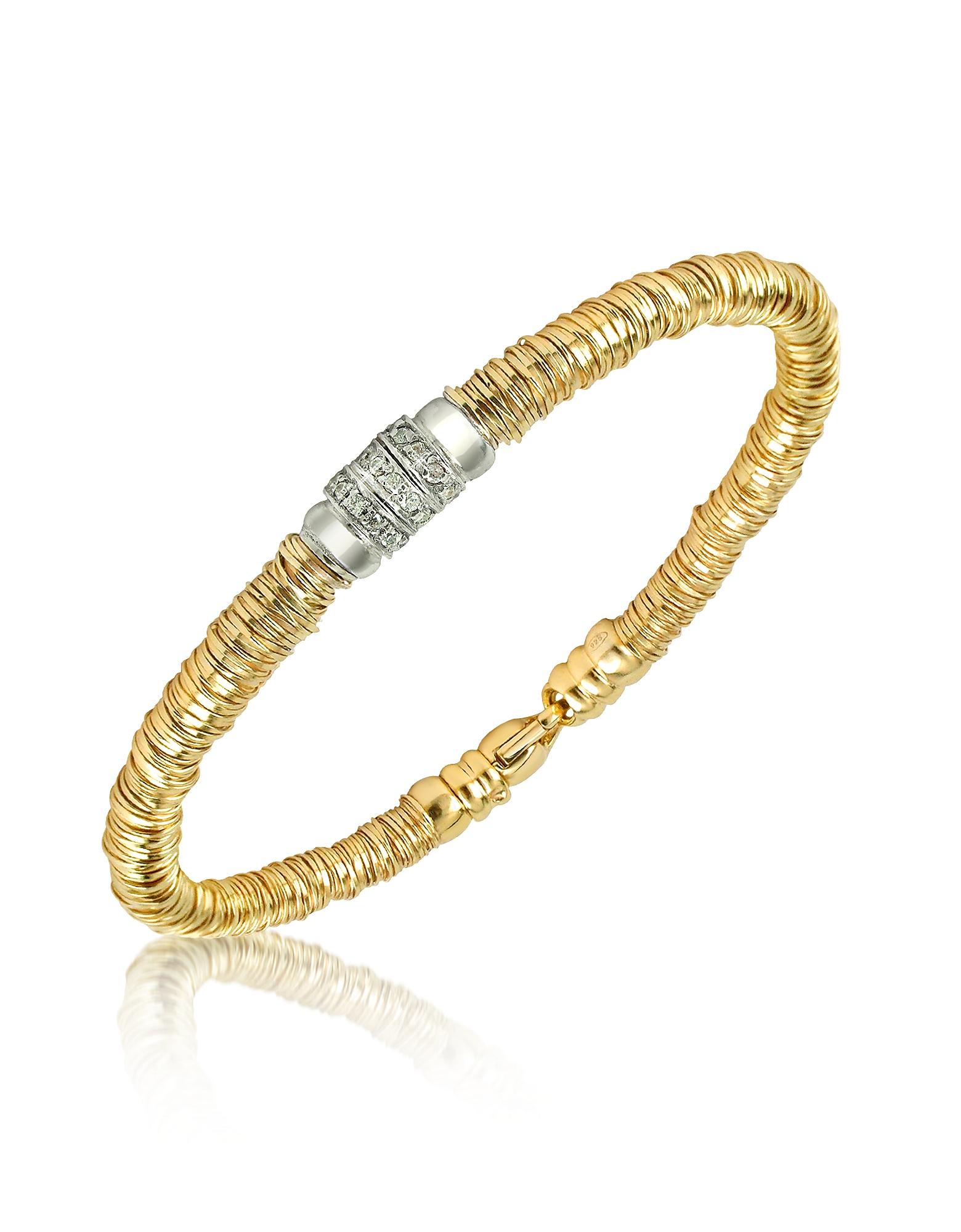 Orlando Orlandini Bracelets, Capriccio - Diamond 18K Gold Chain Snake Bracelet