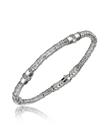 Orlando Orlandini - Capriccio - Diamond 18K White Gold Chain Snake Bracelet