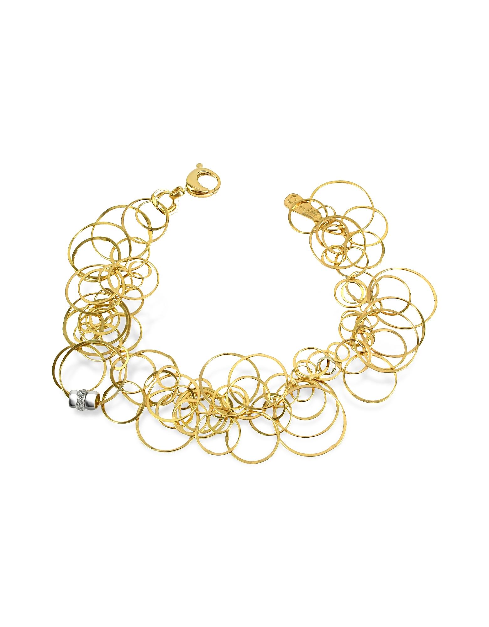 Orlando Orlandini Bracelets, Scintille - Diamond 18K Yellow Gold Bracelet