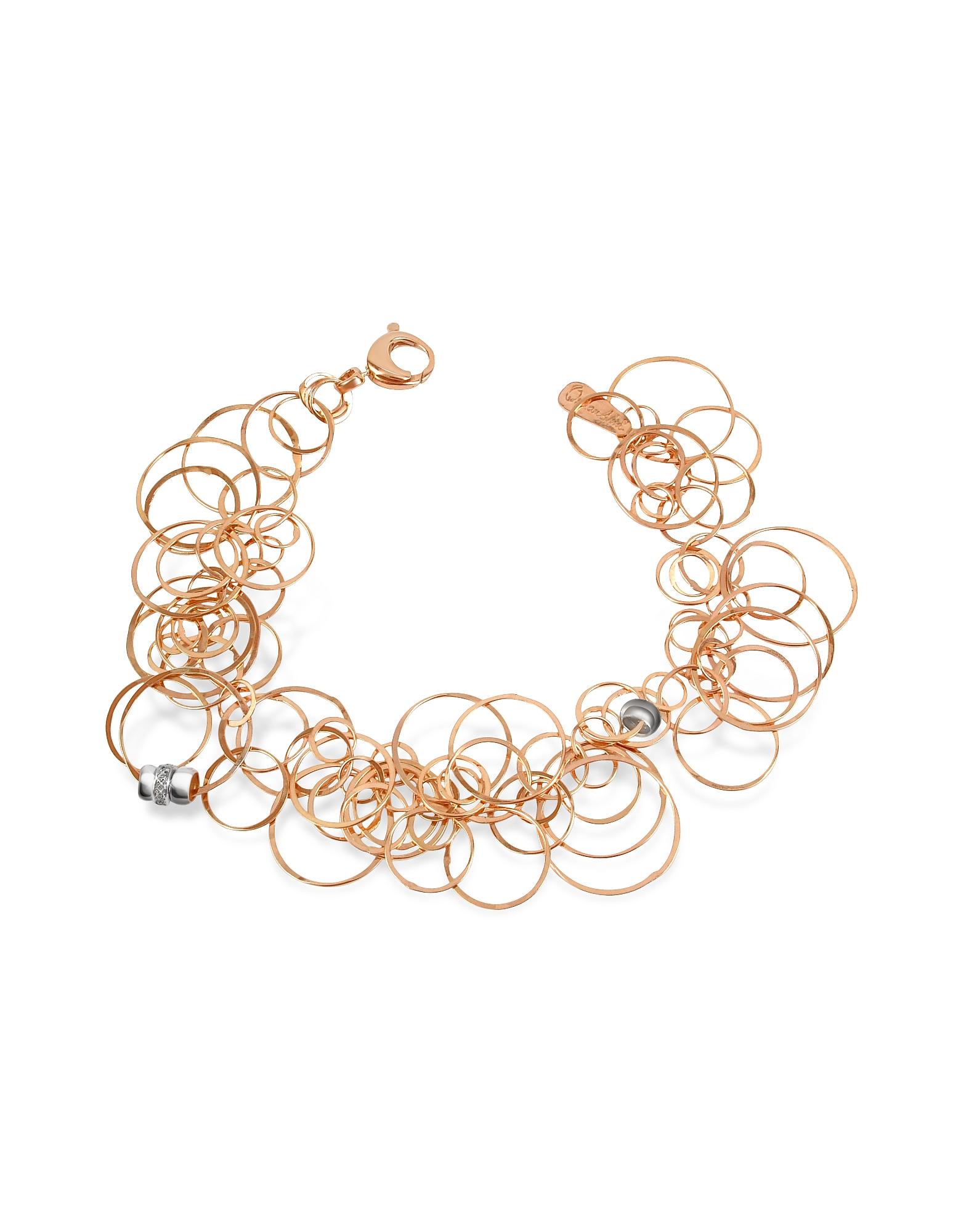 Orlando Orlandini Bracelets, Scintille - Diamond 18K Rose Gold Bracelet