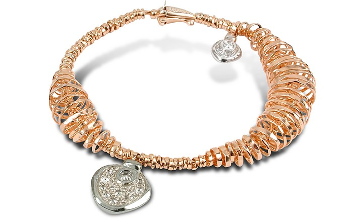 Galaxy - Diamond Charm 18K Rose Gold Bracelet - Orlando Orlandini
