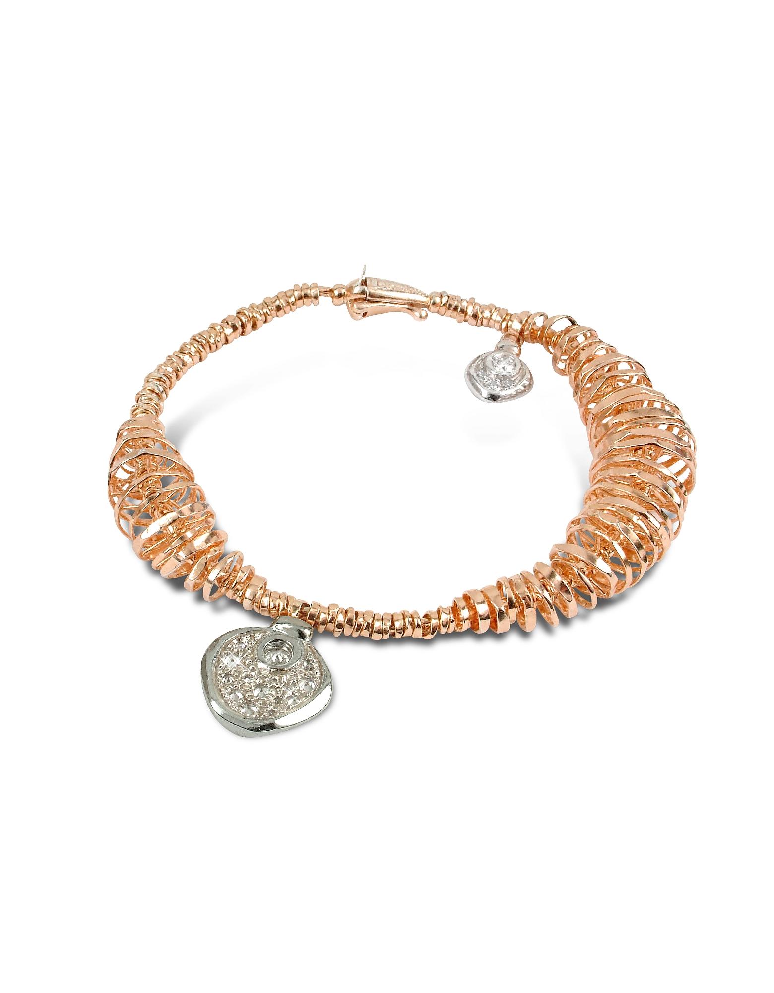 Orlando Orlandini Bracelets, Galaxy - Diamond Charm 18K Rose Gold Bracelet