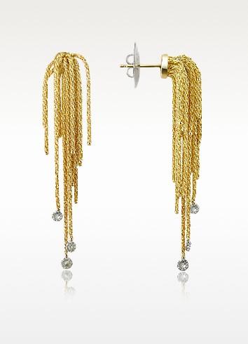 Flirt - Diamond Drops 18K Yellow Gold Earrings - Orlando Orlandini