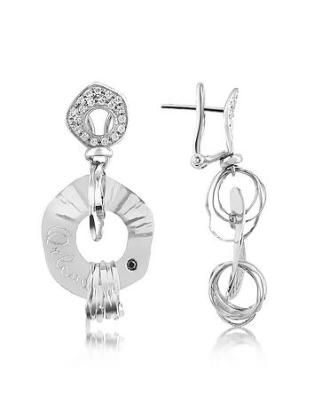 Orlando Orlandini - Fashion - Diamond 18K White Gold Drop Earrings