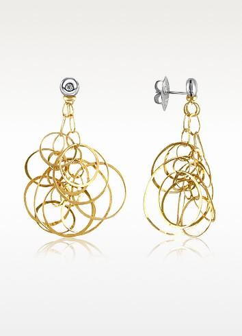 Scintille - Diamond 18K Gold Drop Earrings - Orlando Orlandini
