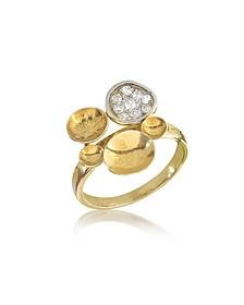 18k Ring aus Gelbgold mit Diamanten - Orlando Orlandini