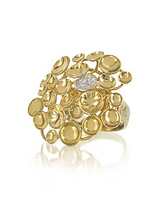 18K Yellow Gold Large Bouquet Ring w/Diamond - Orlando Orlandini