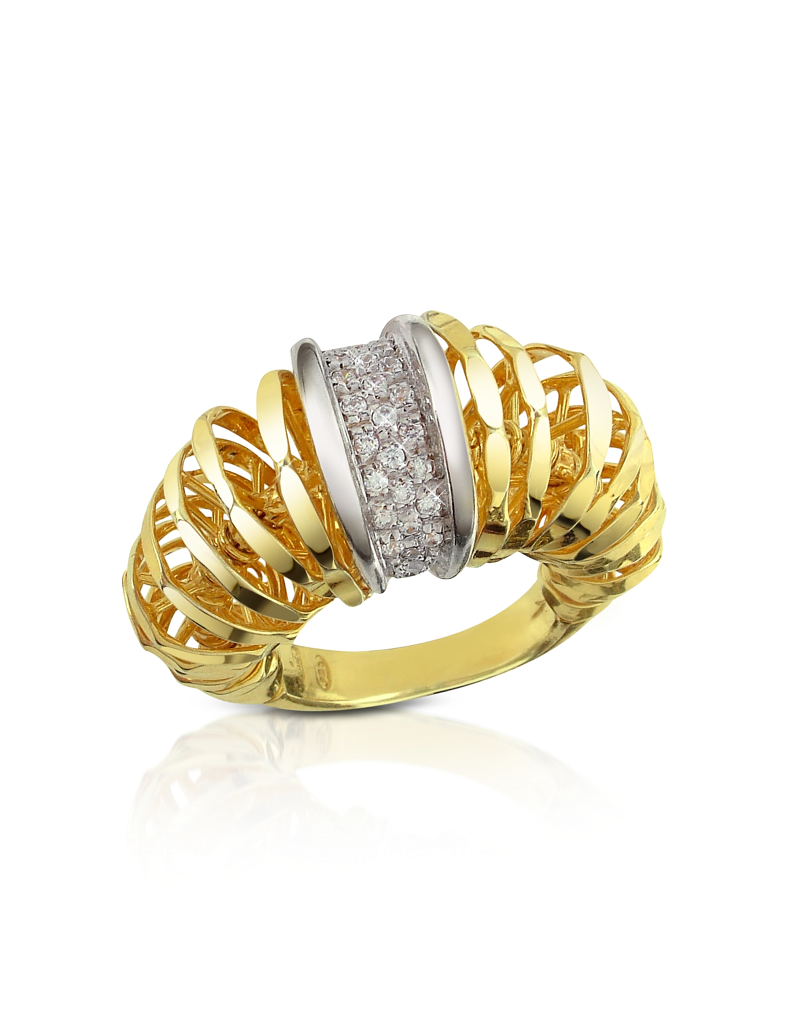 Orlando Orlandini Rings, Galaxy - Diamond 18K Gold Ring