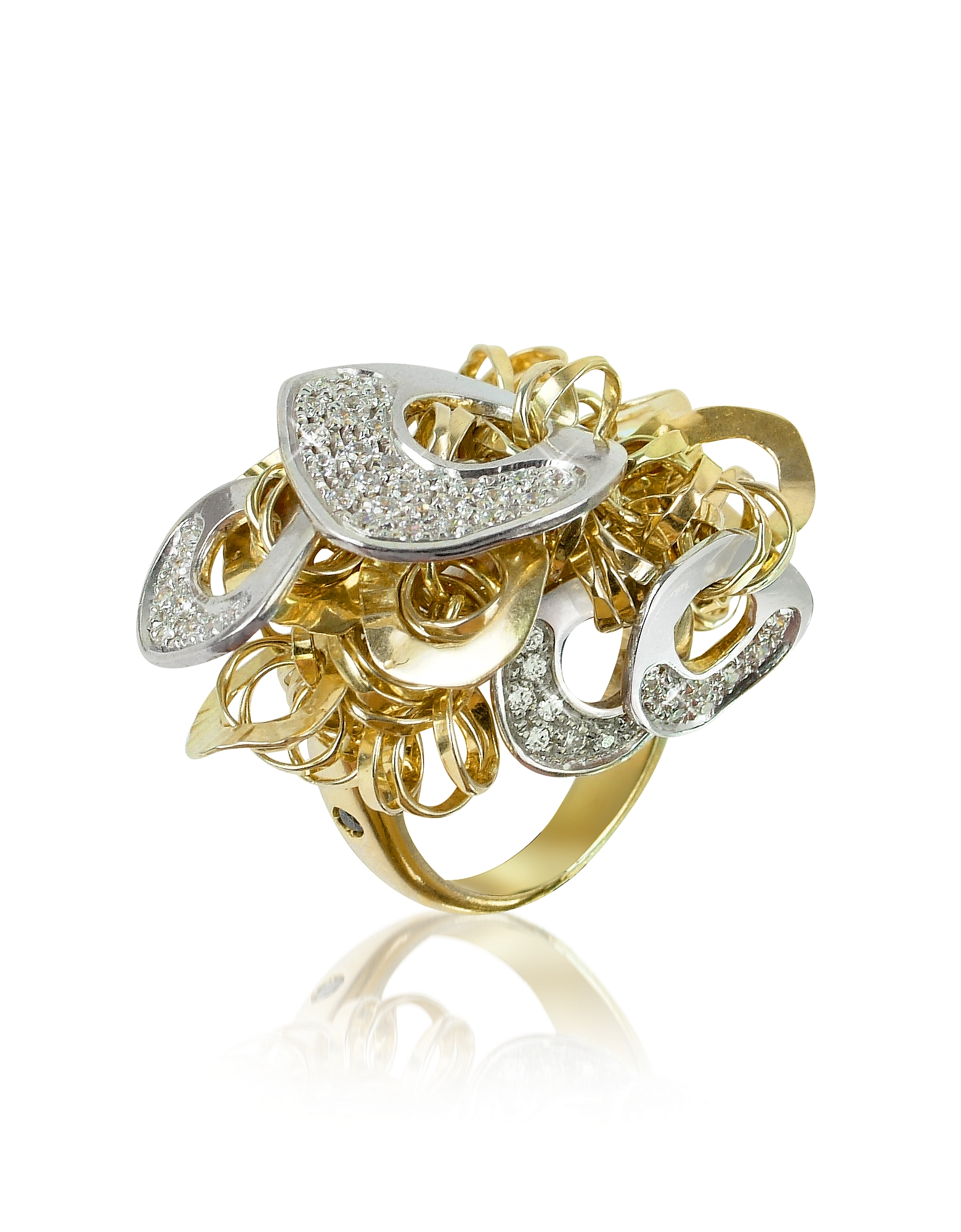 Orlando Orlandini Rings, Fashion - Diamond 18K Gold Charm Ring