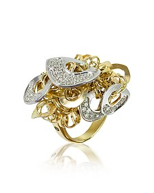 Fashion - Diamond 18K Gold Charm Ring - Orlando Orlandini