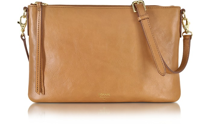 Sydney Top Zip Flat Crossbody Bag - Fossil