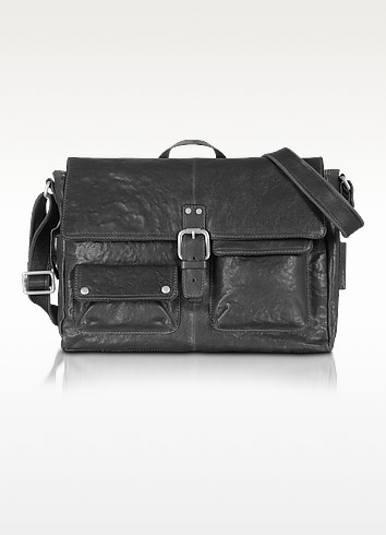 Decker Ew - Leather Messenger Bag - Fossil