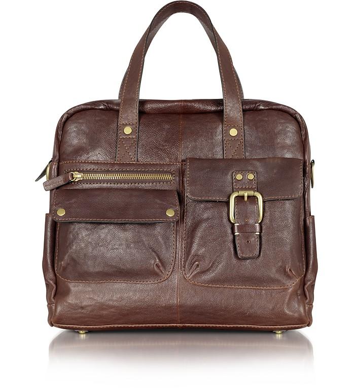 Decker - Leather Messenger Bag - Fossil