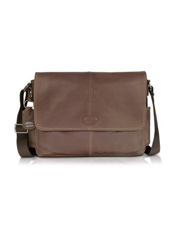 Fossil Desperado Ew - Leather Laptop Messenger Bag