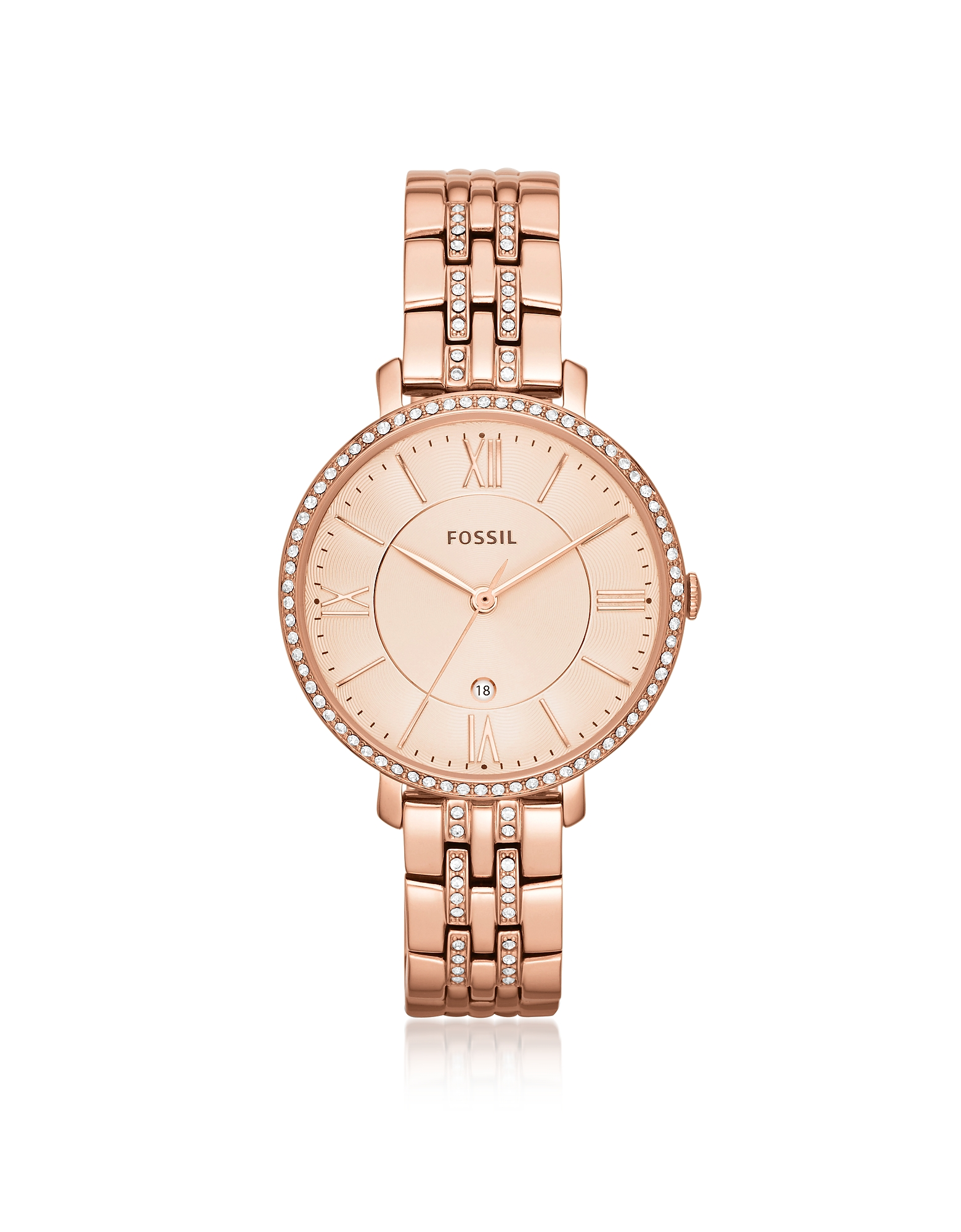 Jacqueline Rose Tone Stainless Steel Women's Watch